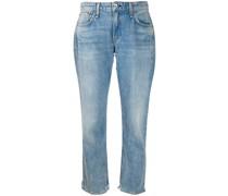 Ausgewaschene Cropped-Jeans