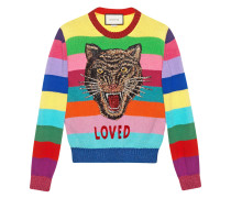 Pullover aus Wolle mit Stickerei