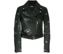 eyelet biker jacket