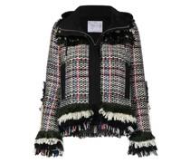 Ausgefranste Tweed-Jacke