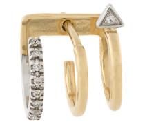 18kt 'Lakme Blanc' Gelbgoldohrring mit Diamanten