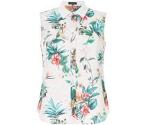 floral-print sleeveless shirt