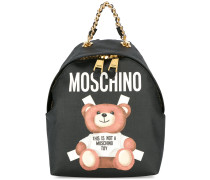 toy bear paper cut out print backpack