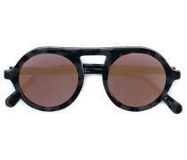Runde Sonnenbrille in Schlidpattoptik