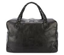 Reisetasche mit geflochtenen Henkeln