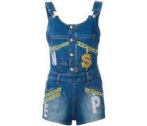 - Jeansjumpsuit mit Kettenmuster - women