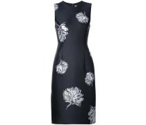 Jacquard-Kleid mit rundem Ausschnitt