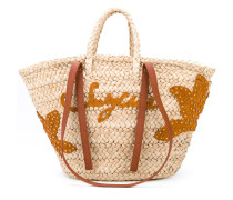 - holiday tote - women - Raffiabast/Leder