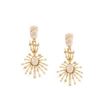 stacked crystal pendant earrings