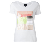 T-Shirt mit Paillettenstickerei