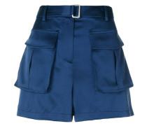 Kurze Seiden-Shorts mit Taschen