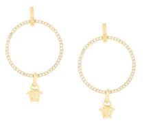 Greca and Medusa hoop earrings