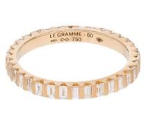 18kt Goldring mit Diamanten in einer Balkenfassung