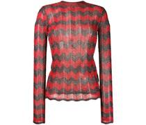 Lurex-Pullover mit Zickzackmuster