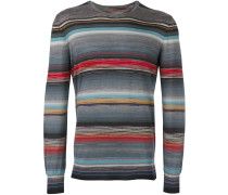 Gestreiftes Feinstrick-Sweatshirt