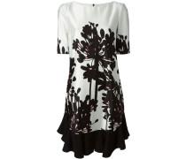 Plissiertes Kleid mit Blumen-Print