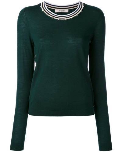 Pullover mit verziertem Kragen