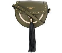 tassel saddle shoulder bag