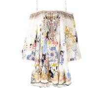 floral-print off-shoulder dress
