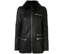 Mantel mit Pelzbesatz - women - Polyester - 38