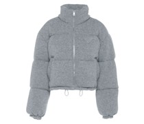 wool and cashmere puffer jacket