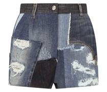 Jeans-Shorts mit Patchwork