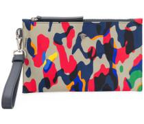 camouflage print clutch bag