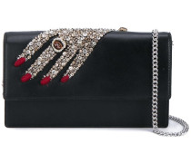 embellished hand clutch