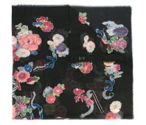 - Wollschal mit Blumen-Print - women - Wolle