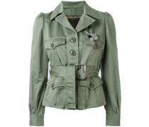 - Military-Jacke mit Gürtel - women - Baumwolle