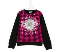 Teen floral Medusa print sweatshirt