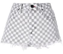 Jeans-Shorts mit Schachbrettmuster