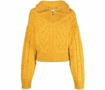 half-zip cable-knit jumper
