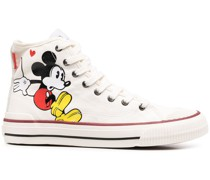 High-Top-Sneakers mit Micky Maus-Print