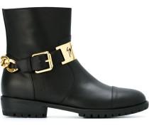 Stiefel mit Zierkette - women - Leder/rubber
