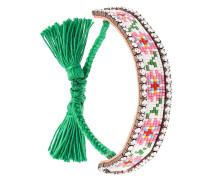 'Flower' Armband mit Quasten