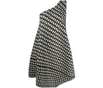 Gemustertes One-Shoulder-Kleid