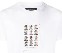 T-Shirt mit Briefmarken-Print