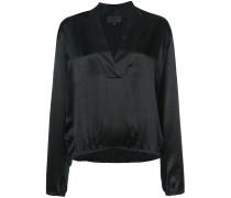 v-neck shift blouse