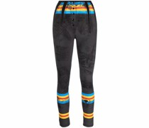 architectural-print skinny trousers