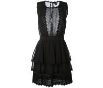 Kleid mit semitransparentem Einsatz