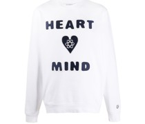 """Pullover mit """"Heart Mind""""-Print"""