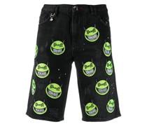 "Jeans-Shorts mit ""Evil Smile""-Patches"