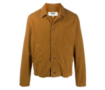 textured cotton shirt jacket