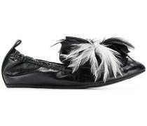 pearl embellished ballerina shoes