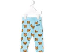 teddy print leggings