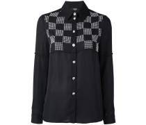 Hemd mit kariertem Einsatz - women - Polyester