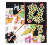 village print scarf - women - Seide