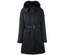 Wattierter Mantel mit Kapuze
