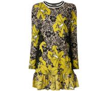 T-Shirt-Kleid mit floralem Print aus Wolle